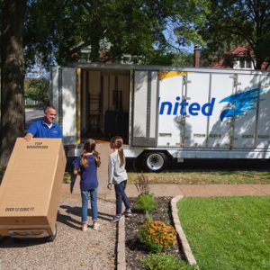 Moving professional performing local moving services