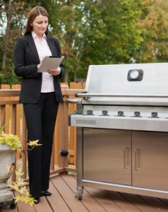 Large outdoor grill, a seasonal item that is commonly stored at our facility over the winter